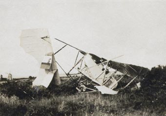 French built Caudron aircraft crashed at St Omer
